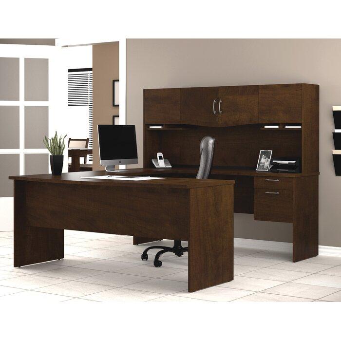 - Bestar Harmony U-Shape Executive Desk With Hutch & Reviews Wayfair