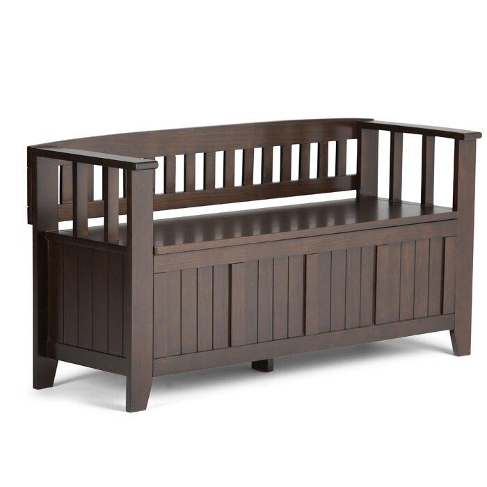 simpli home acadian two seat storage entryway bench u0026 reviews wayfair
