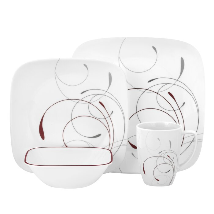 Corelle Splendor 16 Piece Dinnerware Set, Service For 4 U0026 Reviews   Wayfair