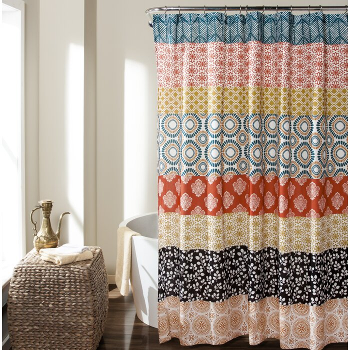Allie Shower Curtain   Reviews   Joss   Main. Brown And Turquoise Shower Curtain. Home Design Ideas