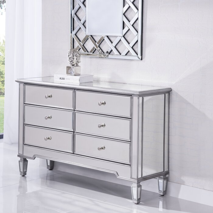 mirror chest silver dressers youll love wayfair