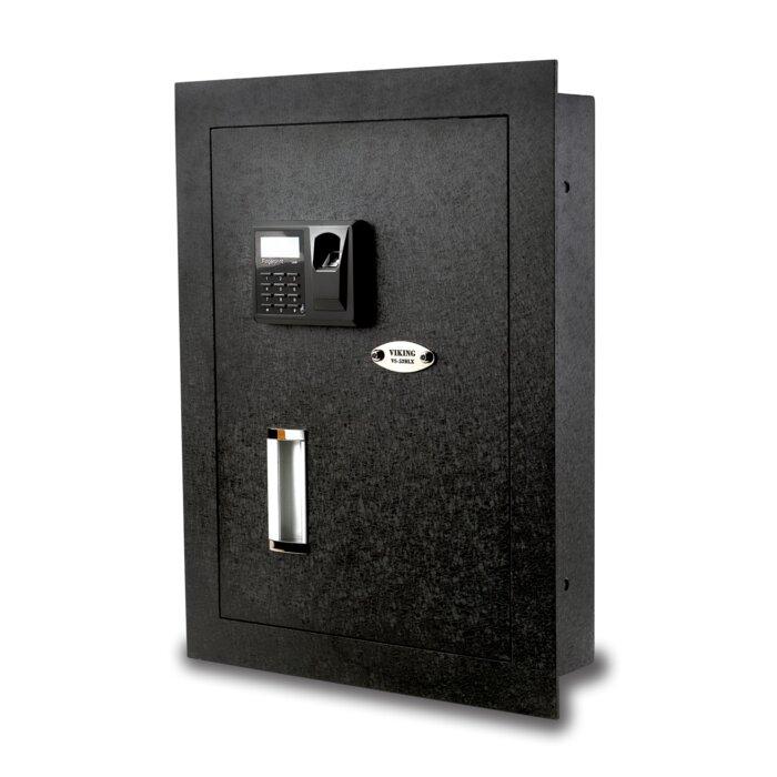 viking security safe viking security safe biometric lock hidden wall safe u0026 reviews wayfair