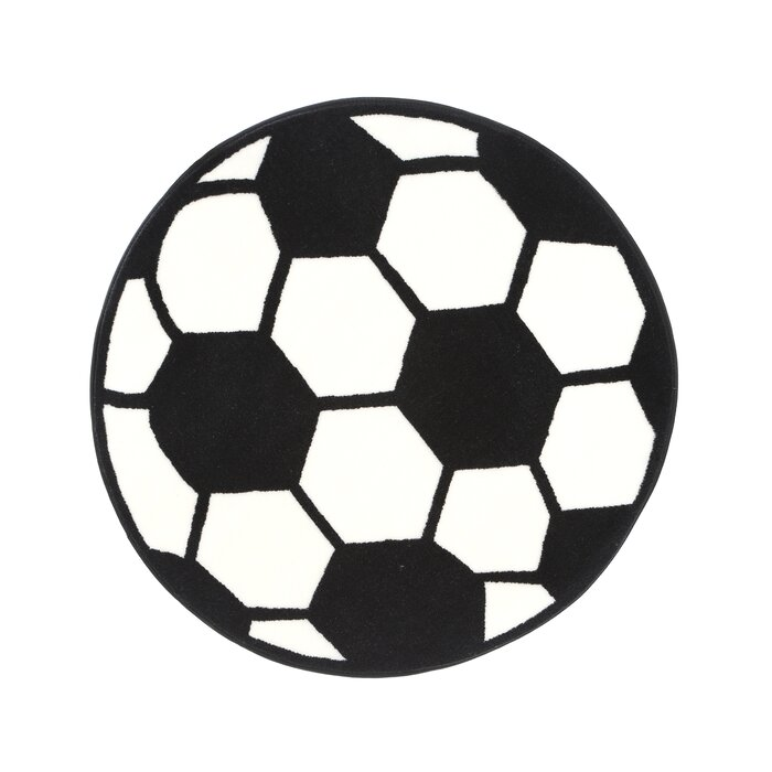 Fun Rugs Fun Shape High Pile Soccerball Sports Area Rug U0026 Reviews | Wayfair
