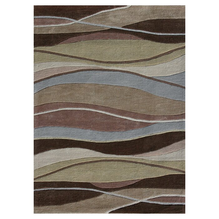 Loloi Rugs Grant Hand Tufted Brown/Blue/Beige Area Rug U0026 Reviews   Wayfair