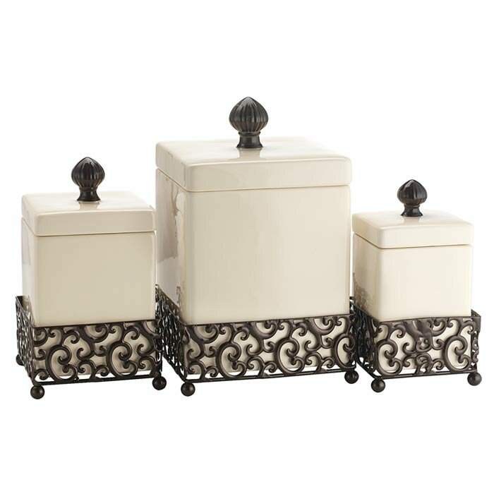 Quick View Tessa 3 Piece Kitchen Canister Set