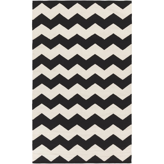 Artistic Weavers Vogue Black Chevron Collins Area Rug U0026 Reviews   Wayfair
