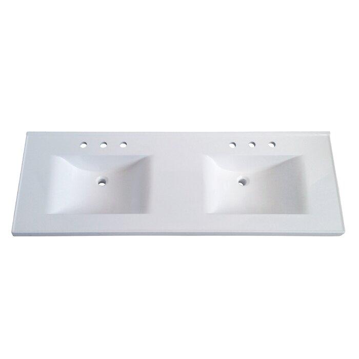 Premier 61  Double Bathroom Vanity Top. Vanity Tops You ll Love   Wayfair
