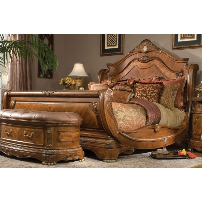 Miraculous Michael Amini Cortina Sleigh Bed Reviews Wayfair Hairstyles For Men Maxibearus