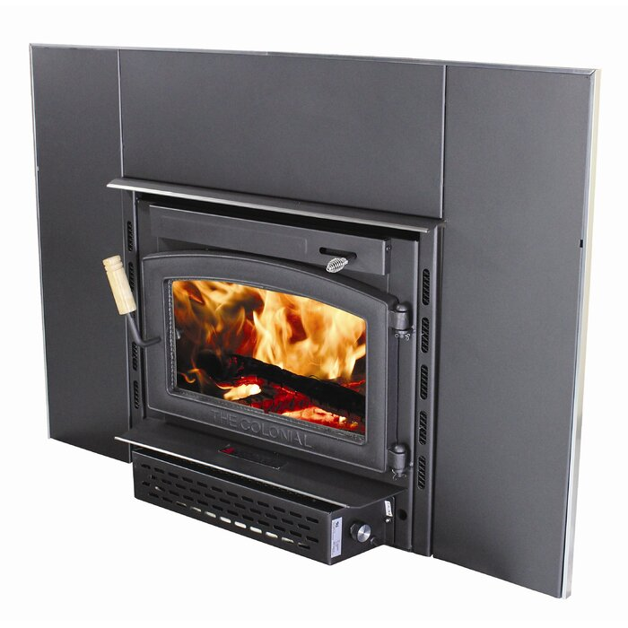 Vogelzang Colonial Wall Mount Wood Burning Fireplace Insert ...