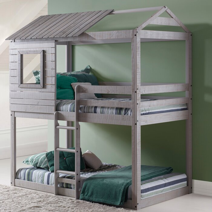 Donco Kids Twin Bunk Bed  Reviews Wayfair - Donco bunk beds