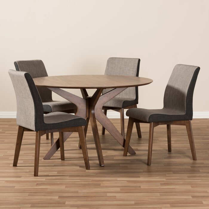 Wholesale Interiors Kimberly Mid Century Modern Wood Round 5 Piece Dining  Set U0026 Reviews | Wayfair