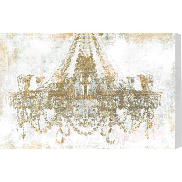 Wayfair Wall Art oliver gal 'gold diamonds faded' graphic art on wrapped canvas