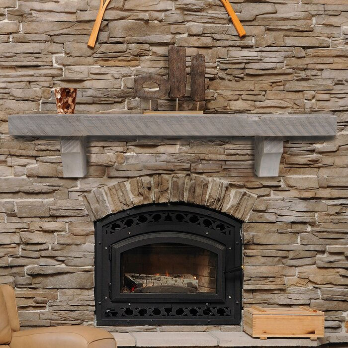 Pearl Mantels Reclaimed Solid Pine Fireplace Mantel Shelf | Wayfair  Fireplace Mantel Shelves