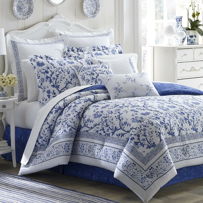 Laura Ashley Home Charlotte Reversible Comforter Set by Laura