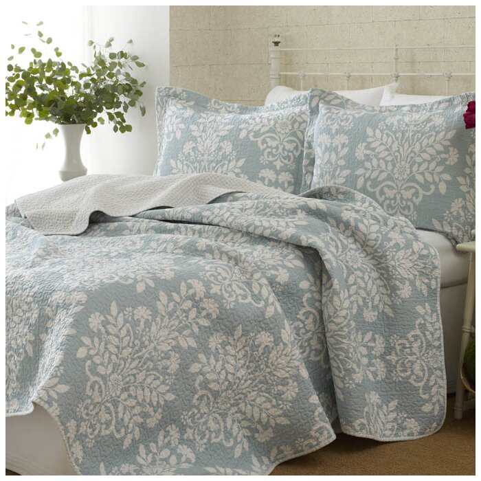 Bedroom Designs Laura Ashley laura ashley home rowland 100% cotton coverlet set & reviews | wayfair