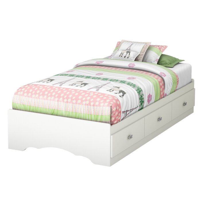 South Shore Tiara Twin Mateu0027s Bed With Storage U0026 Reviews | Wayfair