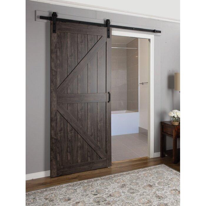 Delightful Continental MDF Engineered Wood 1 Panel Interior Barn Door