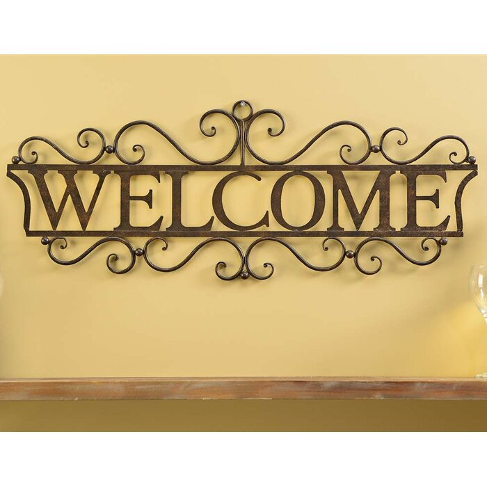 Welcome Wall Decor giftcraft welcome wall decor & reviews | wayfair