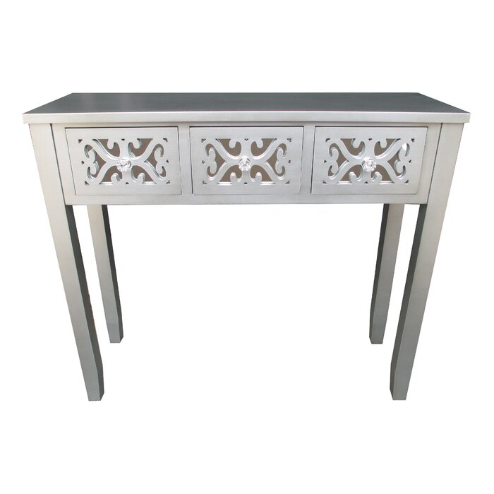 Jeco Inc. Wooden 3 Drawer Console Table U0026 Reviews | Wayfair