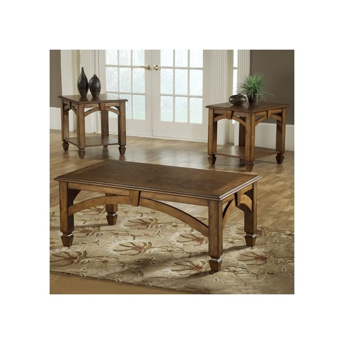 Perfect Bernards Arch Design 3 Piece Coffee Table Set U0026 Reviews | Wayfair