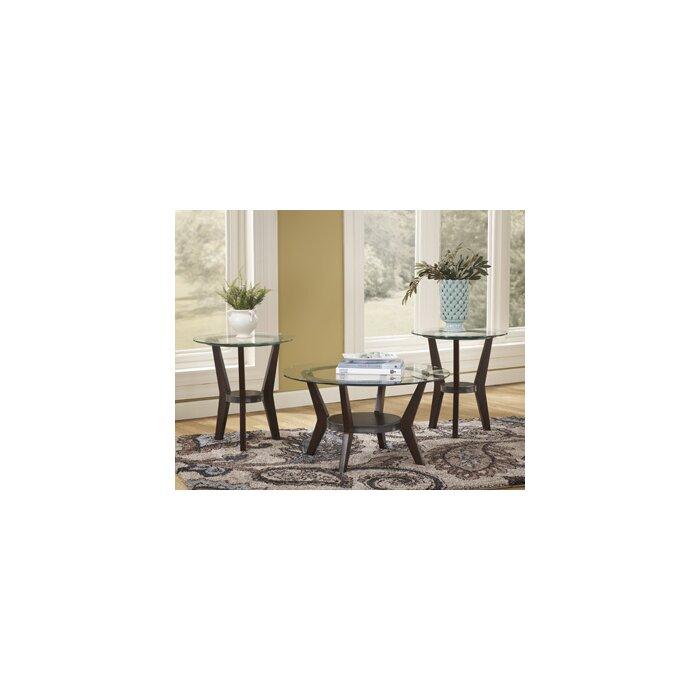 signature designashley curtis 3 piece coffee table set