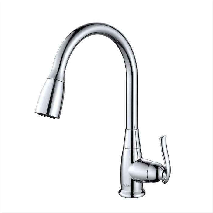 Kraus Premium Faucets Pull Down Single Handle Kitchen Faucet with ...