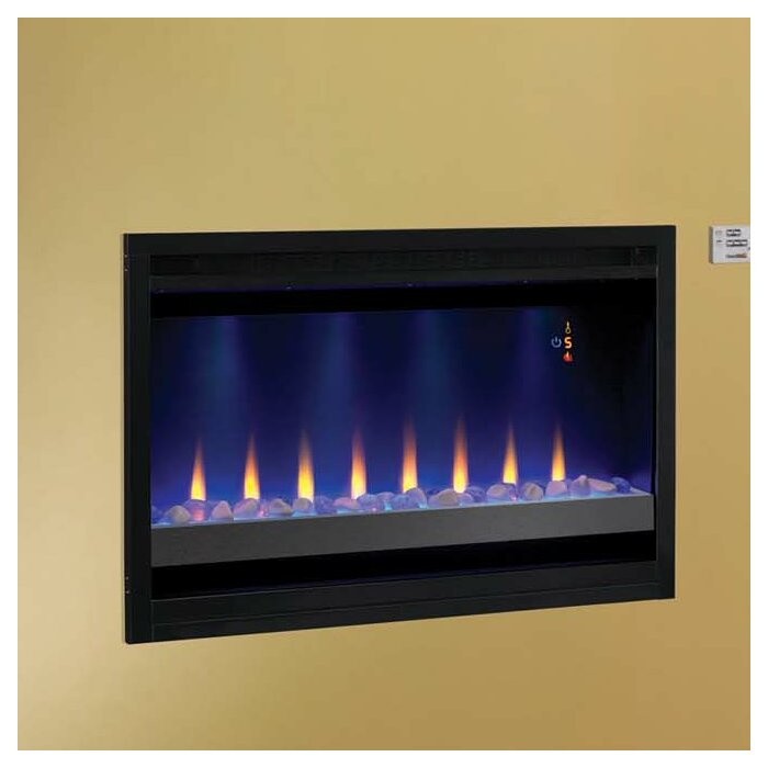 cb2 wall mounted fireplace tools mini mount electric walmart lowes dimplex classic flame builder box contemporary insert