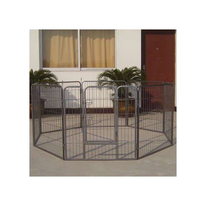 Iconic-Pet-Heavy-Duty-Metal-Tube-Exercise-and-Training-Dog-Pen