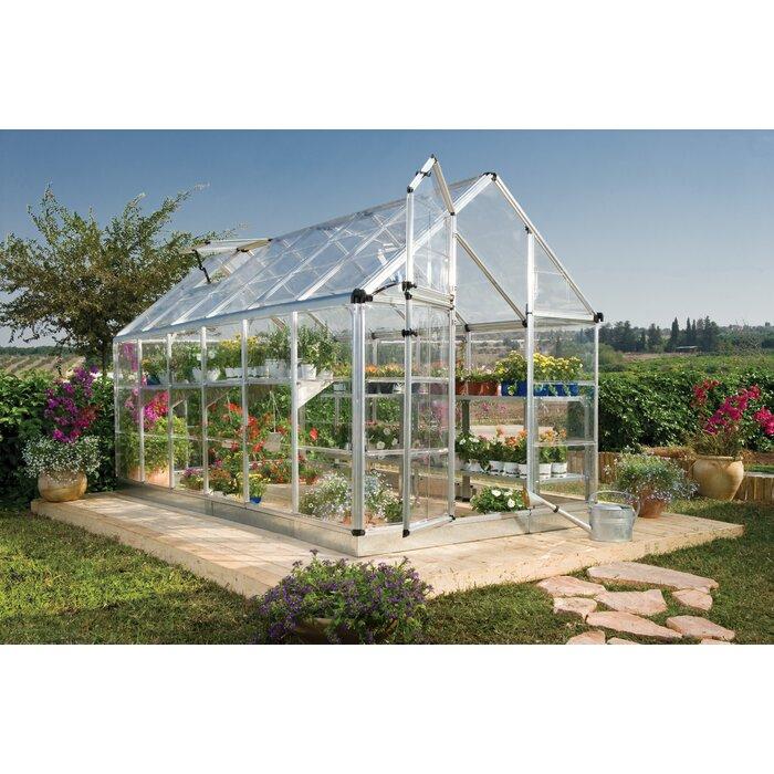 palram snap u0026 grow 6 ft w x 12 ft d greenhouse wayfair - Palram Greenhouse