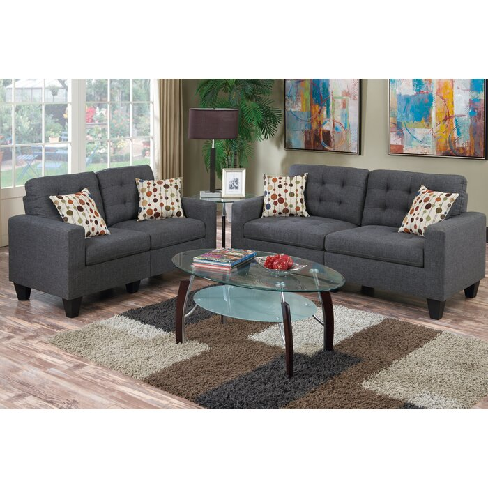 Beautiful Zipcode Design Amia 2 Piece Living Room Set U0026 Reviews | Wayfair Part 3