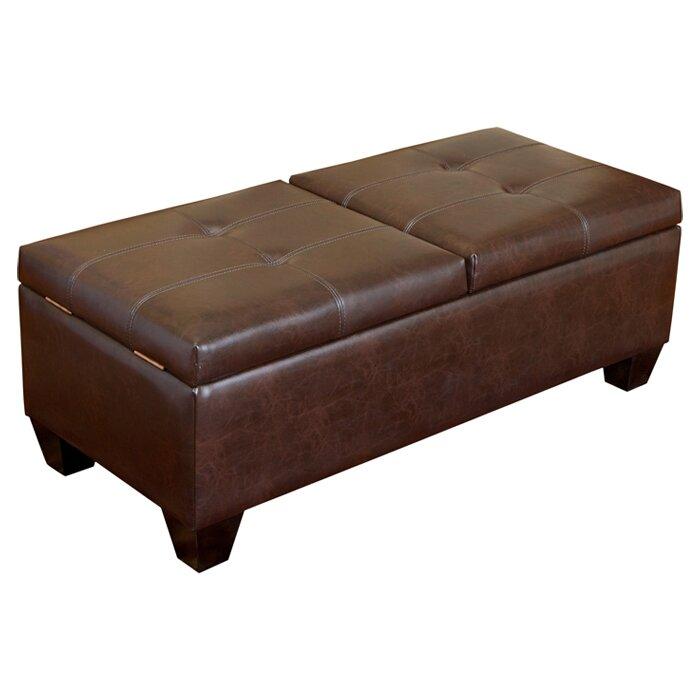 Home Loft Concepts Salas Leather Storage Ottoman Reviews Wayfair