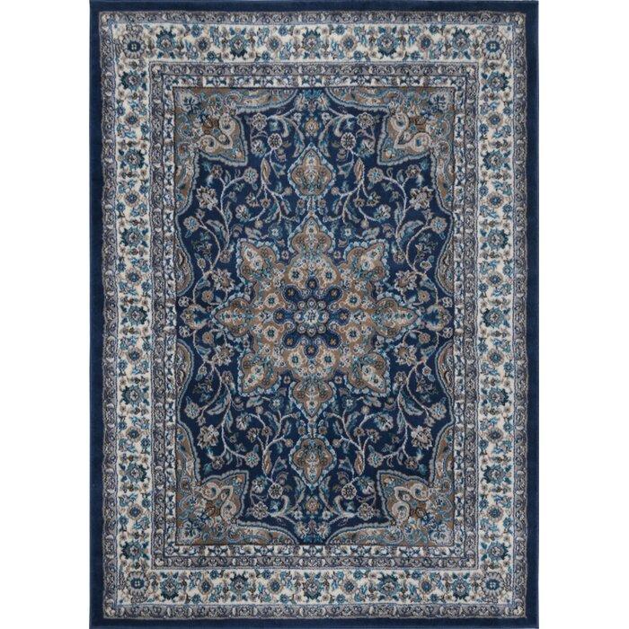 andover mills tremont blue area rug & reviews | wayfair.ca