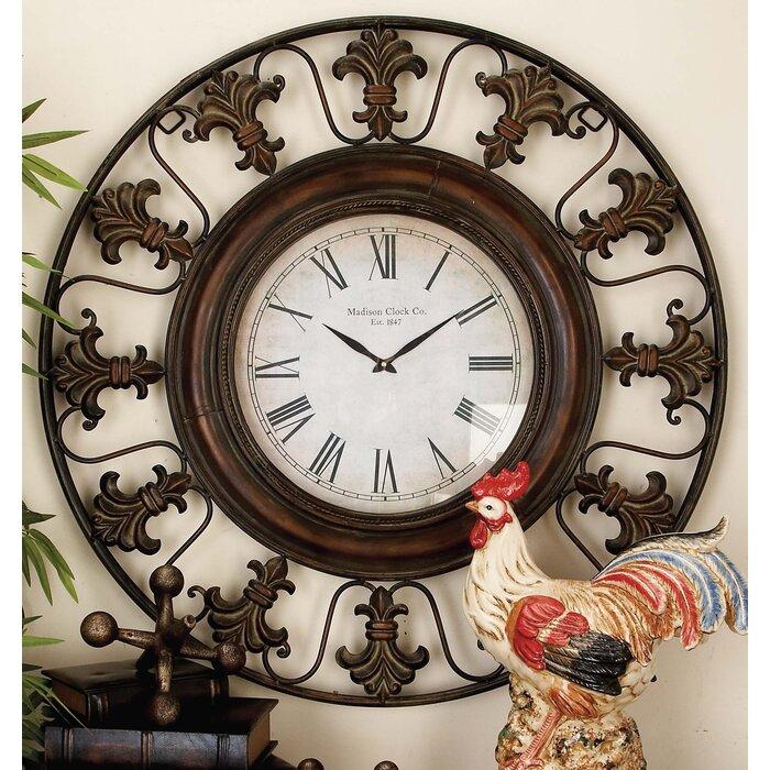 Three Posts Reynolds Oversized 38 Flower Wall Clock Reviews