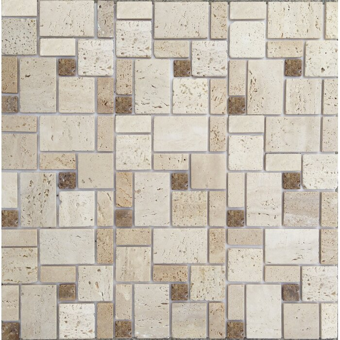 Instant Mosaic 12 x 12 Natural Stone Peel Stick Mosaic Tile