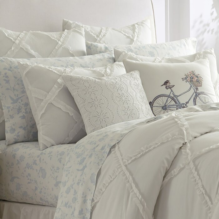 Adelina Ruffle Cotton Duvet Set by Laura Ashley Home