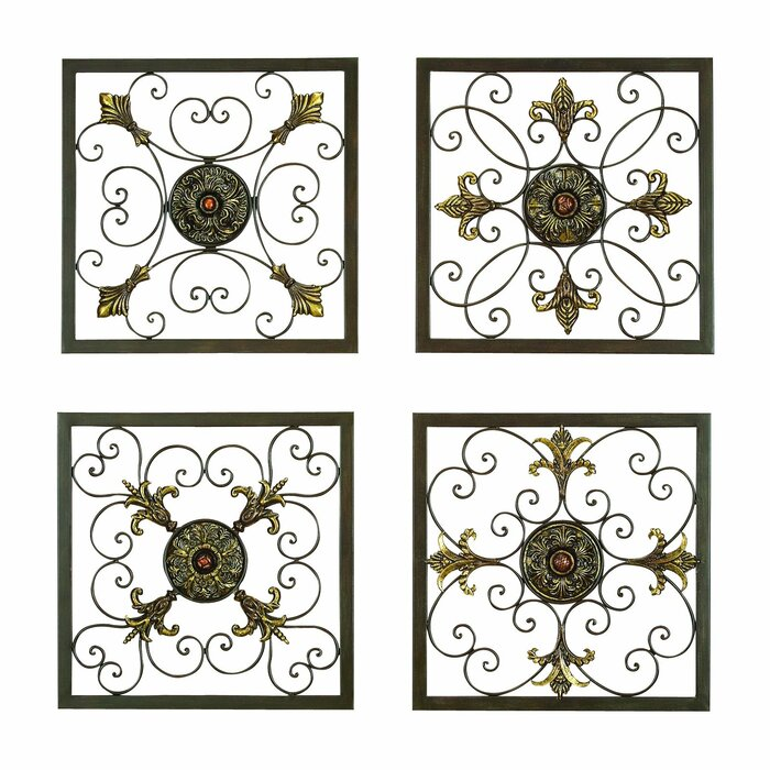 Metal Wall Plaque cole & grey 4 piece metal wall plaque décor set & reviews | wayfair