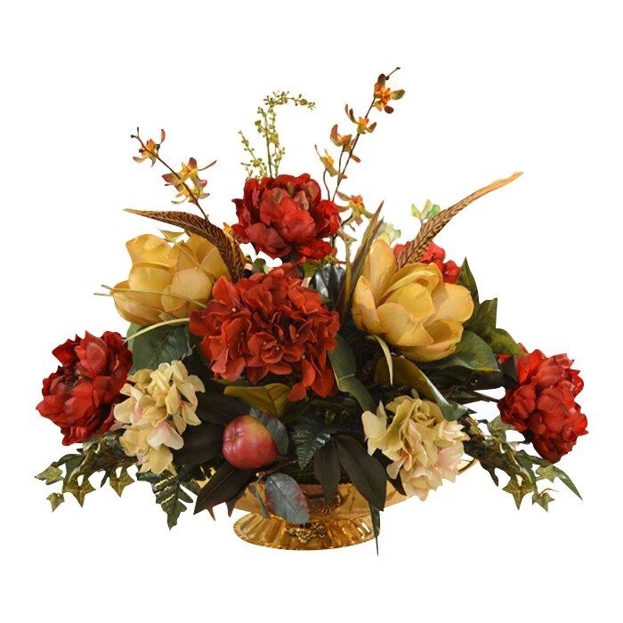 Floral Home Decor Part 32 Floral Home Decor Mixed Centerpiece In Decorative Vase U0026