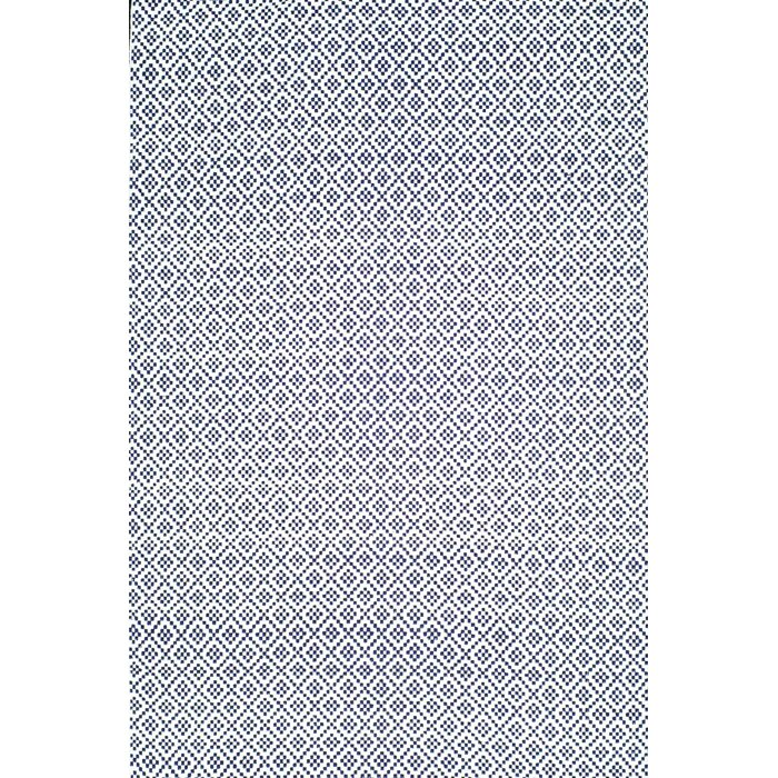 Malbrough Hand Woven Navy Blue/White Area Rug
