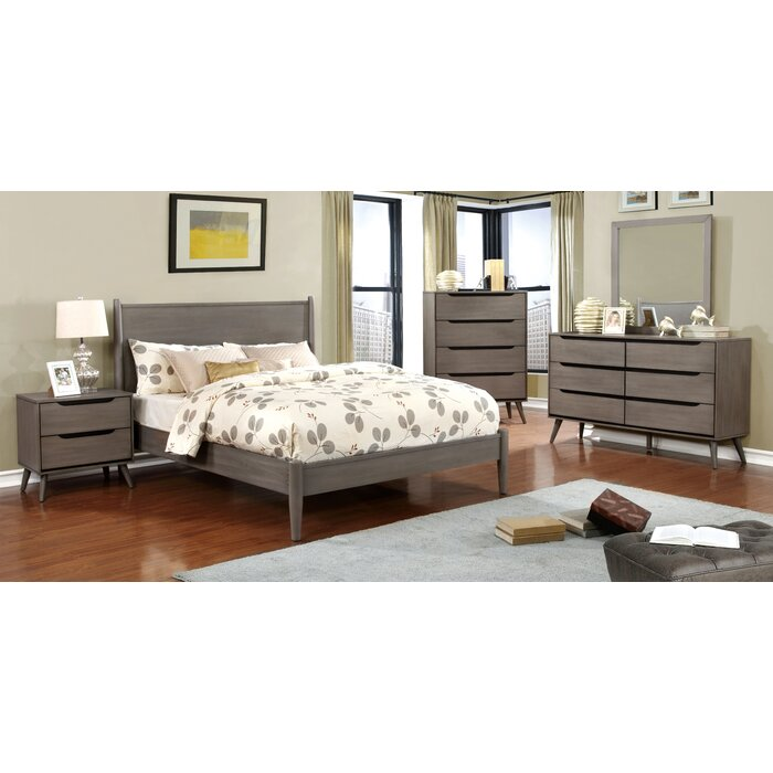 Mercury Row Mason Mid-Century Modern Platform Customizable Bedroom ...