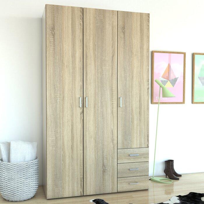 Minda 3 Drawer And 3 Door Armoire