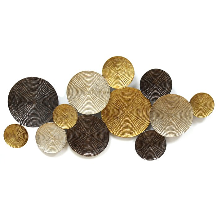 Metal Circle Wall Decor stratton home decor circles wall décor & reviews | wayfair