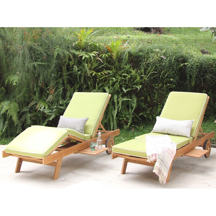 Teak Chaise Lounge Chairs cambridge casual monterey teak chaise lounge with cushion