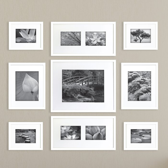 Wall Gallery Frame Set nielsenbainbridge gallery perfect 9 piece picture frame set