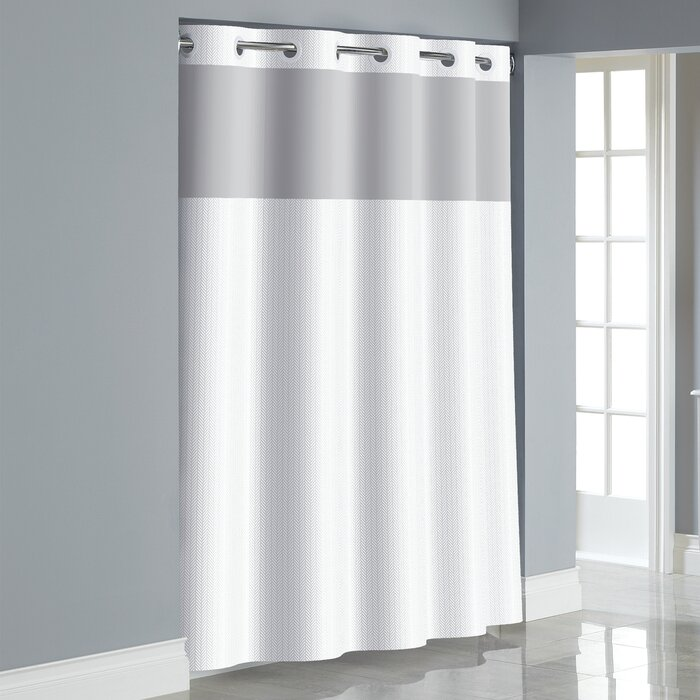 Hookless Herringbone Shower Curtain Reviews