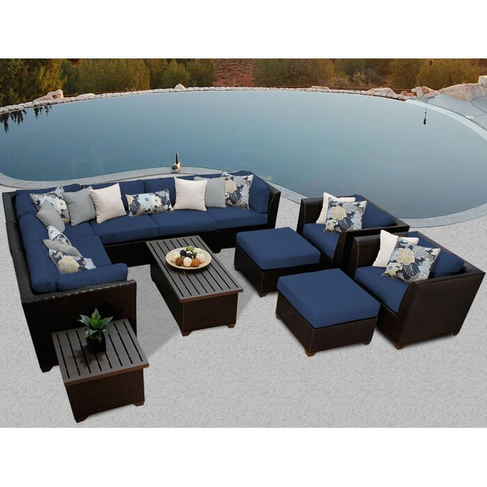 TK Classics Barbados 12 Piece Sectional Seating Group With Cushion U0026  Reviews | Wayfair
