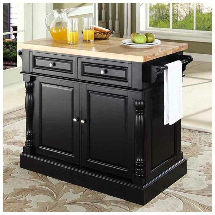 kitchen island furniture. Lewistown Kitchen Island with Butcher Block Top Islands  Carts You ll Love Wayfair