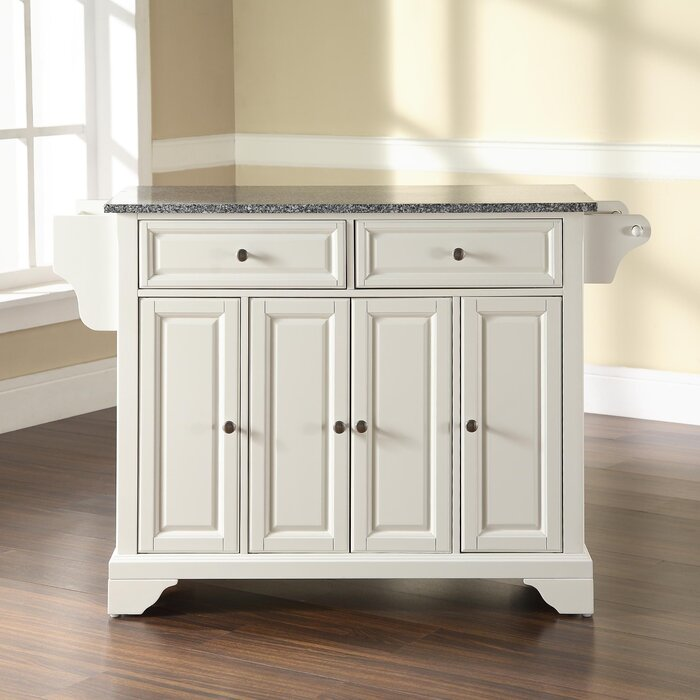 Darby Home Co Abbate Kitchen Island With Granite Top Reviews Wayfair