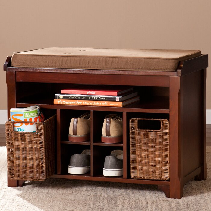 griffin brook wood storage bench