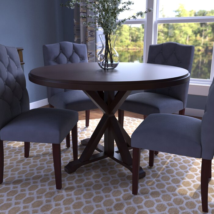 Alcott Hill Fanning X Base Dining Table  Reviews Wayfair - X base dining table