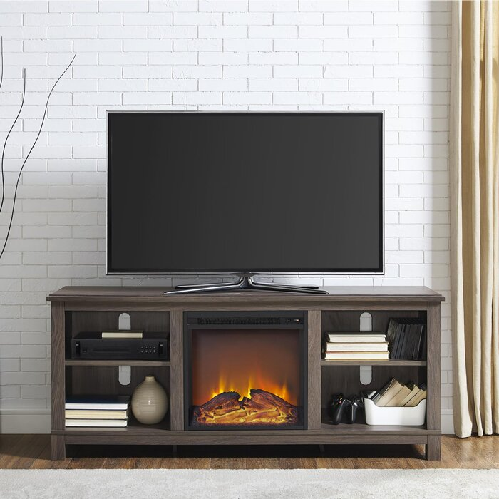 Electric Fireplace electric fireplace heater tv stand : Alcott Hill Gaither 58